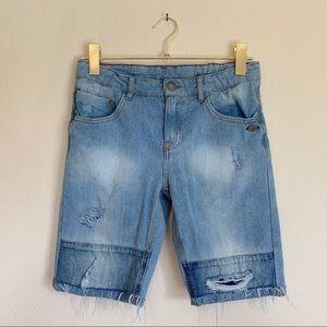 Zara Boys Distressed Denim Shorts Size 11 - 12